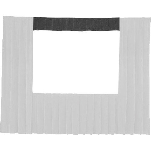 "Da-Lite 36717 Valance Drape ONLY for the 10'6"" x 14' Fast-Fold Deluxe Frame (Black)"