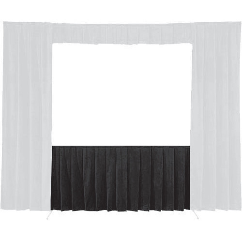 "Da-Lite 36719 Skirt ONLY for the 72 x 72"" Fast-Fold Deluxe Frame (Black)"