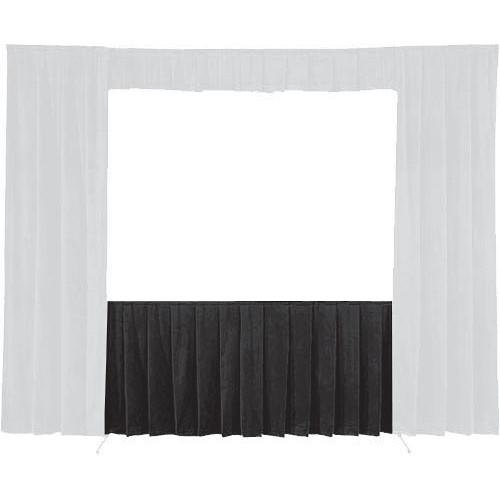 """Da-Lite 36738 Skirt ONLY for the 10'6"""" x 14' Fast-Fold Deluxe Frame (Black)"""