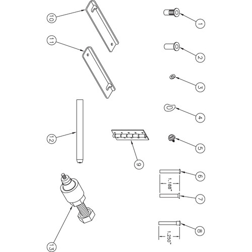 Da-Lite 37316 Fast-Fold Truss Frame Repair Kit