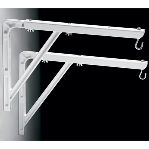 "Da-Lite 40933 #23 Wall Mount Brackets (Extends 10 - 24"", Pair, White)"
