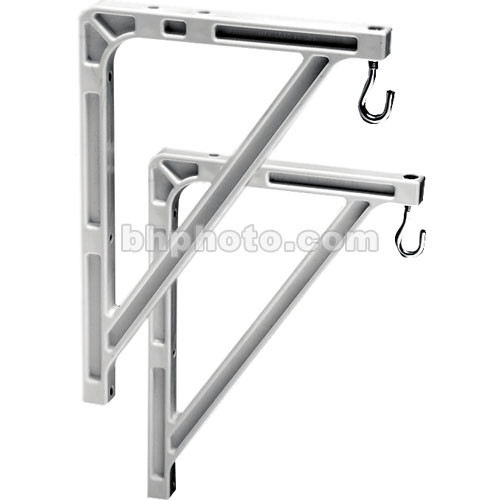 "Da-Lite 40957 #11 Wall Mount Brackets (Extends 14"", Pair, White)"