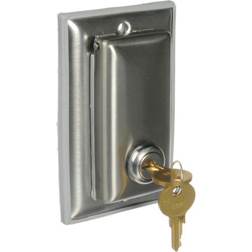 Da-Lite Key-Locking Coverplate for 115v or Low Voltage Control Switch