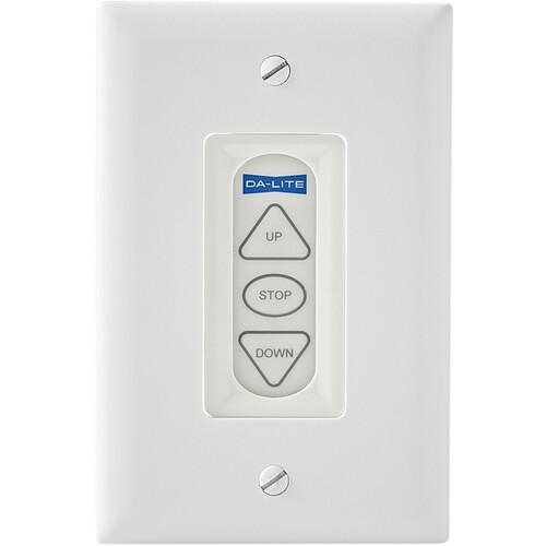 Da-Lite Three-Button Low Voltage Control Switch (White)