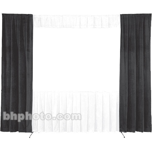 Da-Lite 30-in. Wide Wing Drapes - Pair (Black) 41092B