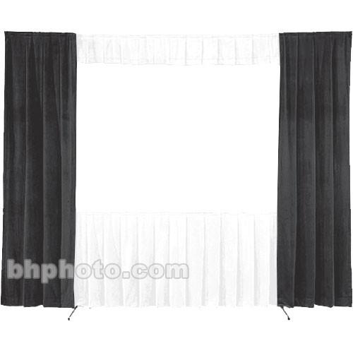 Da-Lite 30-in. Wide Wing Drapes - Pair (Black) 41092B