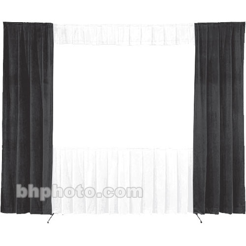 Da-Lite 30-in. Wide Wing Drapes - Pair (Black) 41093B