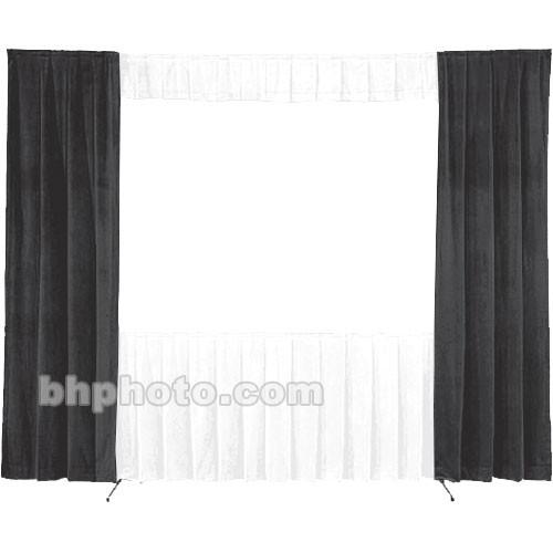 Da-Lite 30-in. Wide Wing Drapes - Pair (Black) 41094B