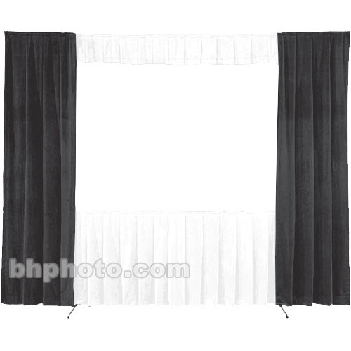 Da-Lite 30-in. Wide Wing Drapes - Pair (Black) 41097B