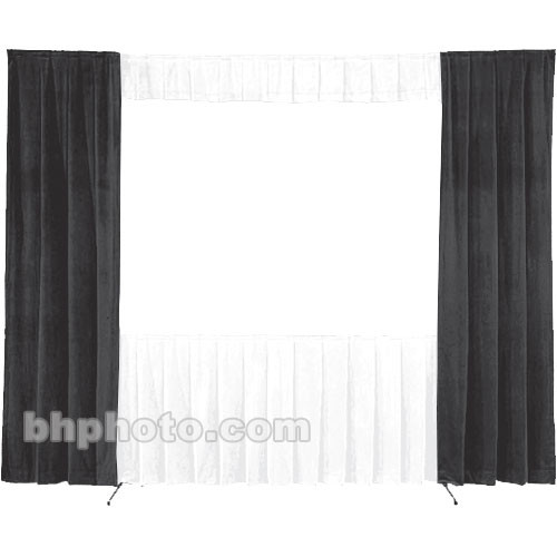 Da-Lite 30-in. Wide Wing Drapes - Pair (Black) 41100B