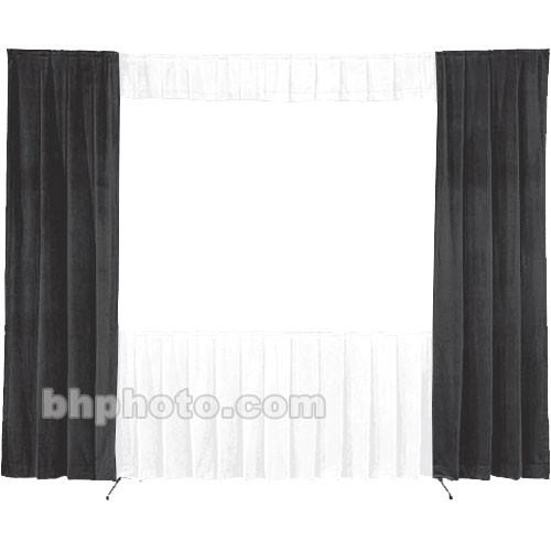 Da-Lite 30-in. Wide Wing Drapes - Pair (Black) 41101B