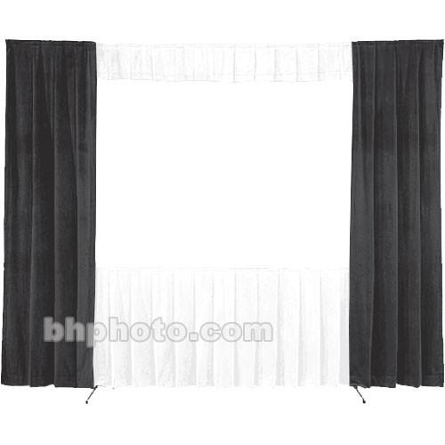 Da-Lite 30-in. Wide Wing Drapes - Pair (Black) 41102B