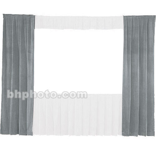 Da-Lite 30-in. Wide Wing Drapes - Pair (Gray) 41103G