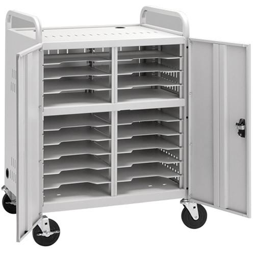 Da-Lite Laptop Storage Cart, Model CT-LS20 (Dove Gray Powder Coat)