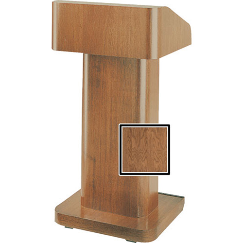 Da-Lite 25-in. Contemporary Pedestal Lectern - Natural Walnut