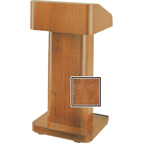 Da-Lite 25-in. Contemporary Pedestal Lectern With Sound - Cherry