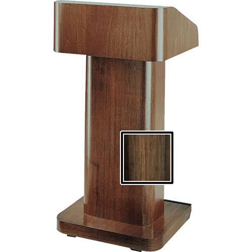 Da-Lite 25-in. Contemporary Pedestal Lectern With Sound - Heritage Walnut