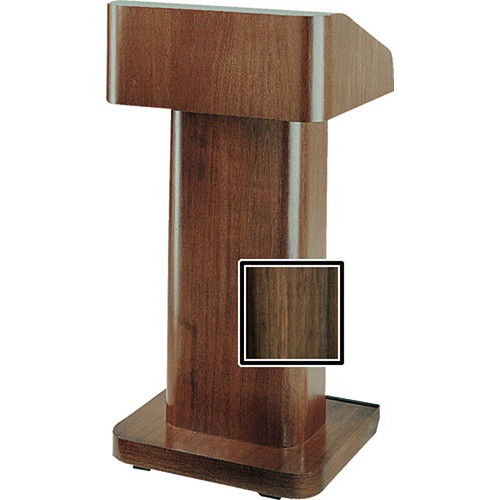 Da-Lite 25-in. Contemporary Pedestal Lectern With Sound - Heritage Walnut