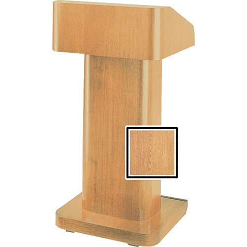 Da-Lite 25-in. Contemporary Pedestal Lectern With Sound - Light Oak