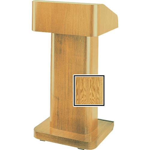 Da-Lite 25-in. Contemporary Pedestal Lectern With Sound - Medium Oak