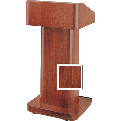 Da-Lite 25-in. Contemporary Pedestal Lectern With Sound - Mahogany