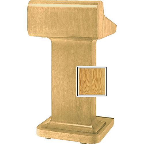 Da-Lite Traditional Pedestal Lectern - Medium Oak