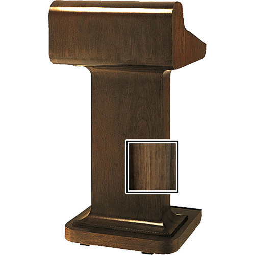 Da-Lite Traditional 25-in Pedistal Lectern with Sound - Heritage Walnut