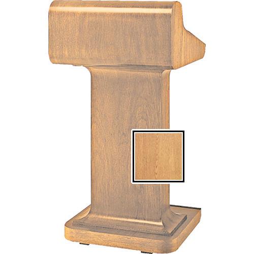 Da-Lite Traditional Pedistal Lectern with Sound - Light Oak