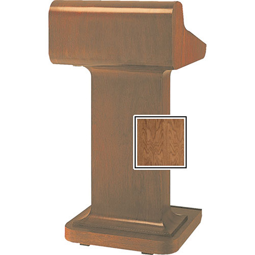 Da-Lite Traditional 25-in Pedistal Lectern with Sound - Natural Walnut