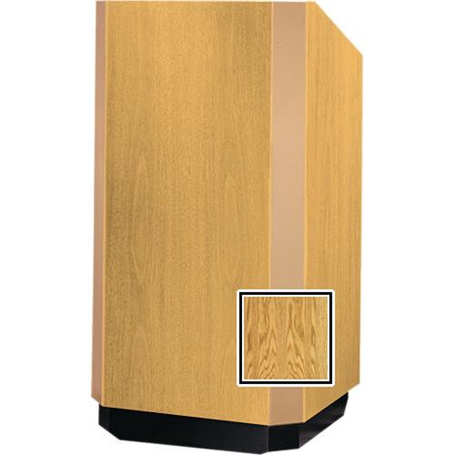 "Da-Lite 25"" Floor Model Yorkshire Lectern - Medium Oak"