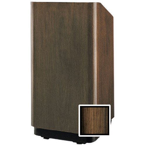 "Da-Lite Concord 42"" Special Needs Floor Lectern with Height Adjustment (Heritage Walnut Veneer)"