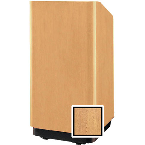 "Da-Lite Concord 42"" Special Needs Floor Lectern with Height Adjustment (Light Oak Veneer)"