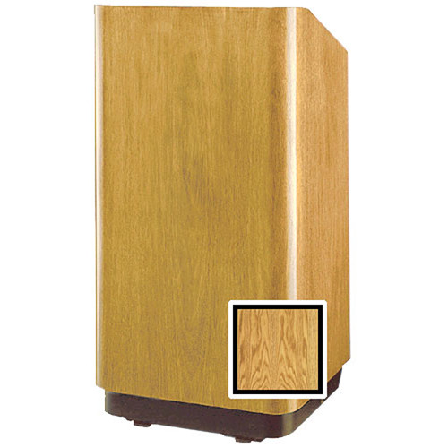 """Da-Lite Concord 42"""" Special Needs Floor Lectern with Height Adjustment (Medium Oak Veneer)"""