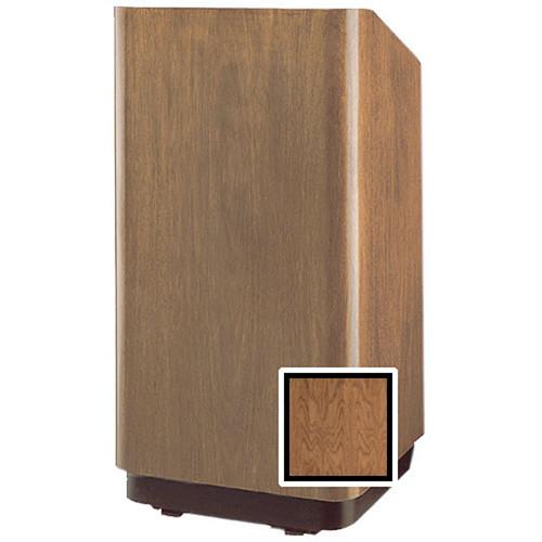 """Da-Lite Concord 42"""" Special Needs Floor Lectern with Height Adjustment (Natural Walnut Veneer)"""