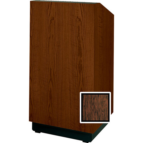 "Da-Lite Lexington 42"" Special Needs Floor Lectern with Height Adjustment (Mahogany Laminate)"