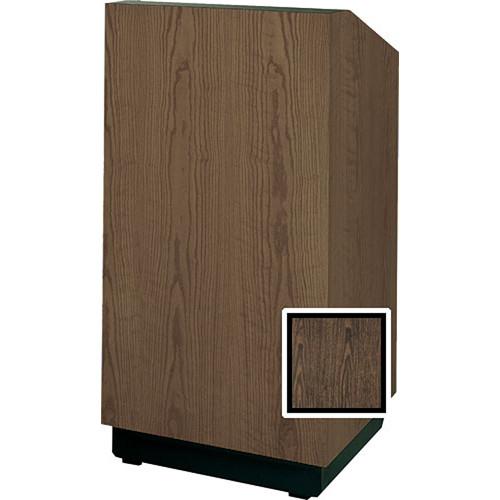 "Da-Lite Lexington 42"" Special Needs Floor Lectern with Height Adjustment (Gunstock Walnut Laminate)"