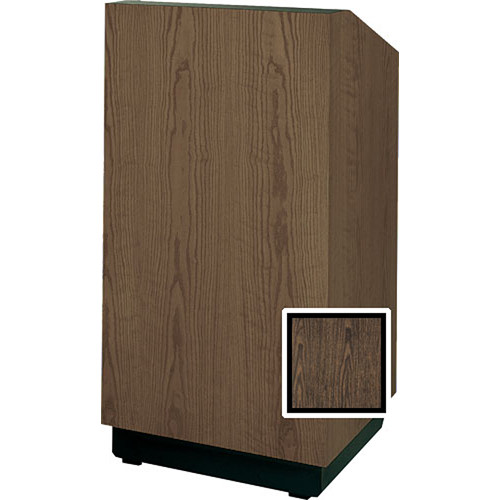 "Da-Lite Lexington 42"" Special Needs Floor Lectern with Height Adjustment (Gunstock Walnut Laminate)"