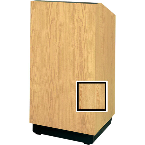 "Da-Lite Lexington 42"" Special Needs Floor Lectern with Height Adjustment (Light Oak Laminate)"