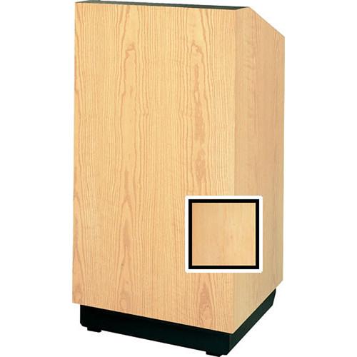 """Da-Lite Lexington 42"""" Special Needs Floor Lectern with Height Adjustment (Honey Maple Veneer)"""
