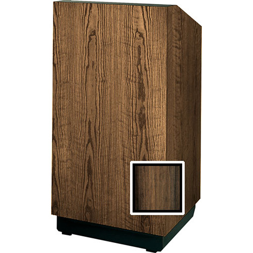 """Da-Lite Lexington 42"""" Special Needs Floor Lectern with Height Adjustment (Heritage Walnut Veneer)"""