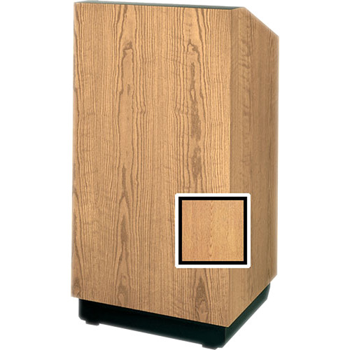 "Da-Lite Lexington 42"" Special Needs Floor Lectern with Height Adjustment (Light Oak Veneer)"