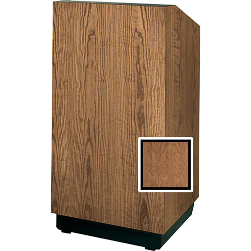 """Da-Lite Lexington 42"""" Special Needs Floor Lectern with Height Adjustment (Natural Walnut Veneer)"""