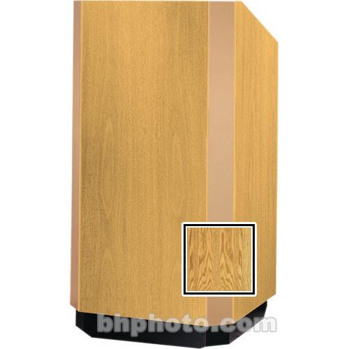 Da-Lite 42-in. Floor Model Yorkshire Lectern - Medium Oak Veneer