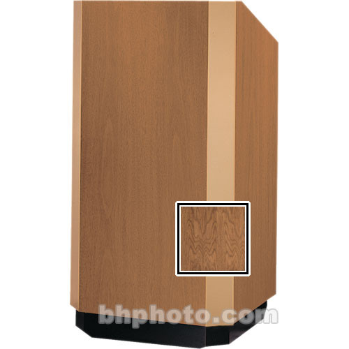 "Da-Lite Floor Lectern, 42"" Adjustable - The Yorkshire - Natural Walnut Veneer"