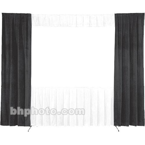 Da-Lite 30-in. Wide Wing Drapes - Pair (Black) 77145B