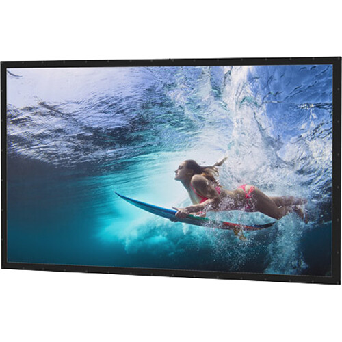 "Da-Lite 79972 Perm-Wall Fixed Frame Projection Screen (65 x 116"")"