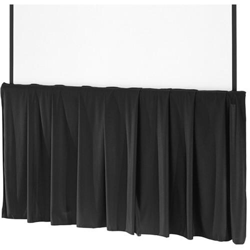 """Da-Lite - Black Tripod Skirt - 96"""""""