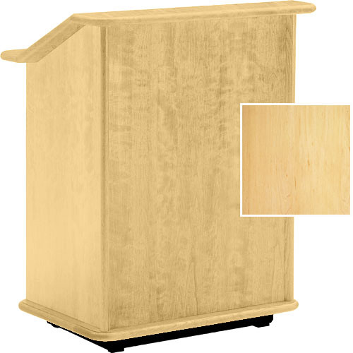 "Da-Lite Lancaster 32"" Adjustable Floor Lectern w/Sound System -(Honey Maple)"