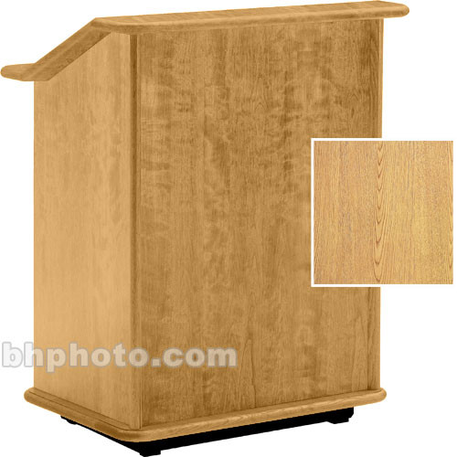 "Da-Lite Lancaster 25"" Floor Lectern  (Light Oak)"