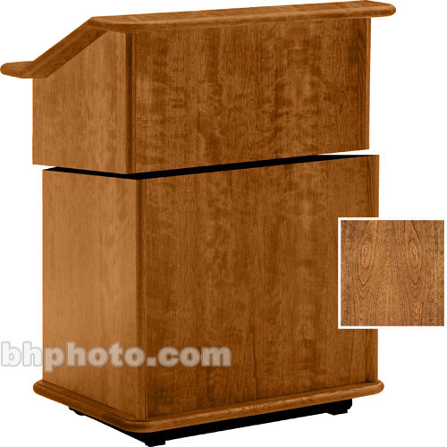 "Da-Lite Lancaster 25"" Stacking Lectern w/Sound System (Cherry)"